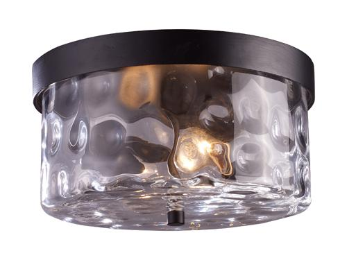 Grand Aisle 2-Light Outdoor Flush Mount In Hazelnut Bronze