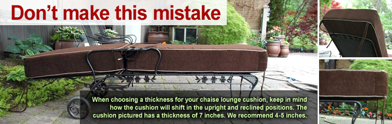 Custom cushion mistakes