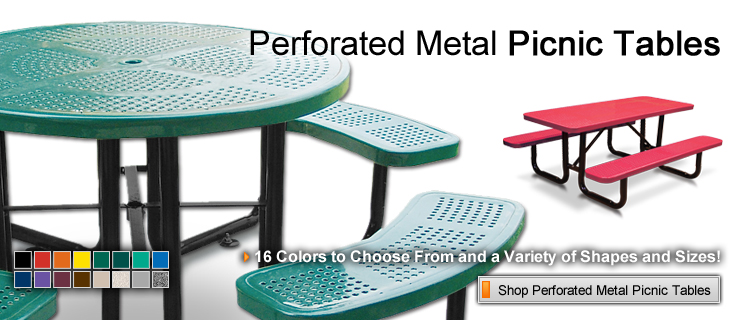 Perforated Metal Picnic Tables