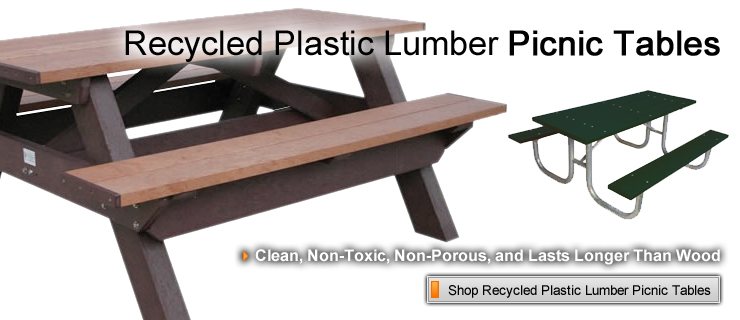 Recycled Plastic Lumber Picnic Tables