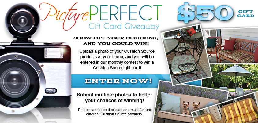 picture perfect gift card giveaway, customer photos, cushion source photos