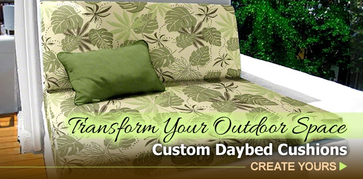 Custom Outdoor Daybed Cushions