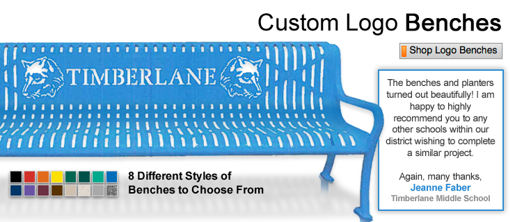 Custom Logo Benches