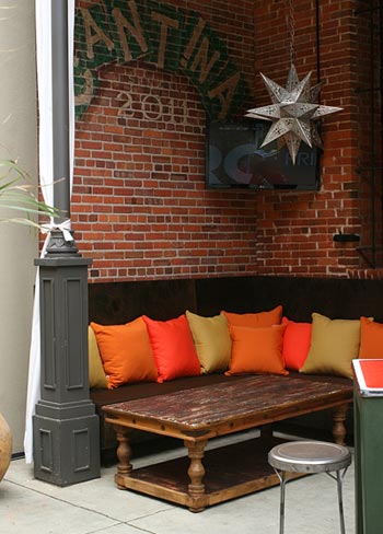 Cantina Custom Outdoor Pillows and Drapes