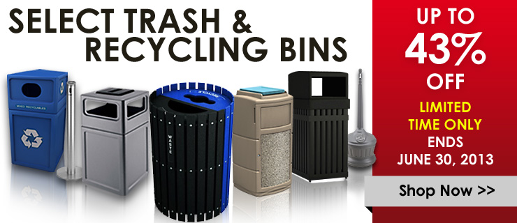 Save up to 43% on select trash and recycling bins