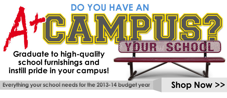 Graduate to high-quality school furnishings and instill pride in your campus!