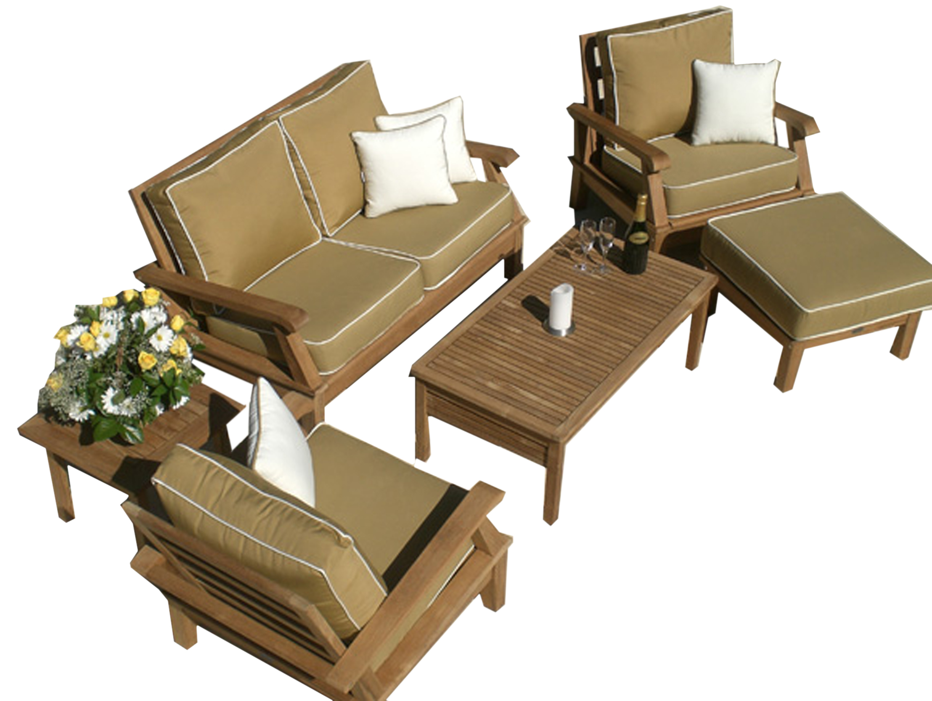 Deep Seating Teak Set Information