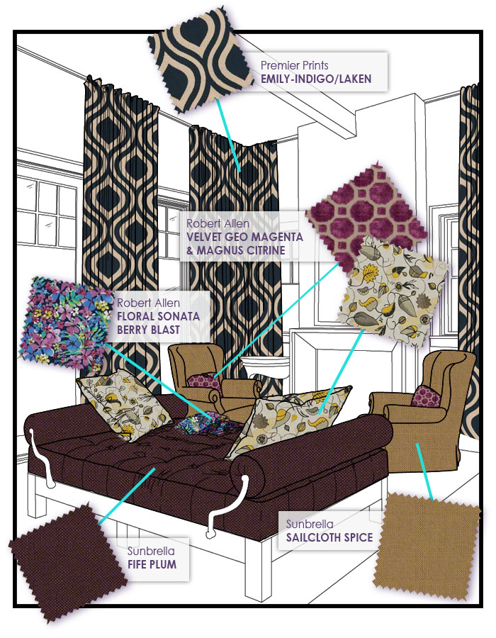 NOLA in your home - Custom cushions, pillows, drapes and more from Cushion Source