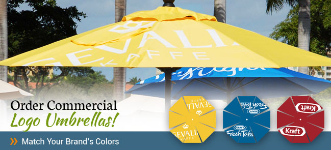 Kraft Brand Commercial Logo Umbrellas