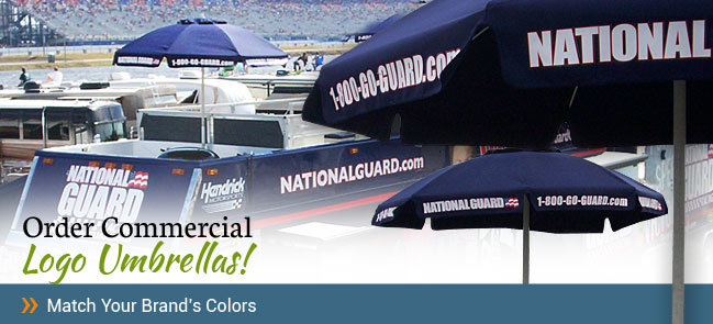 National Guard Brand Commercial Logo Umbrella