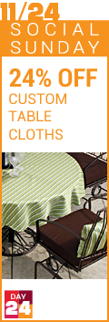 Social Sunday - 24% Off Custom Tablecloths