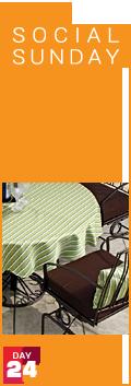 Social Sunday - 24% Off Custom Tablecloths