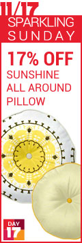 Sparkling Sunday - 17% Off Sunshine All Around Pillow