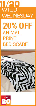 Wild Wednesday - 20% Animal Print Bed Scarf