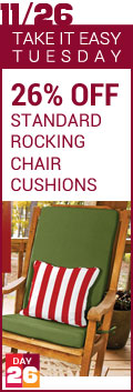 Take It Easy Tuesday - 26% Off Custom Rocking Chair Cushions