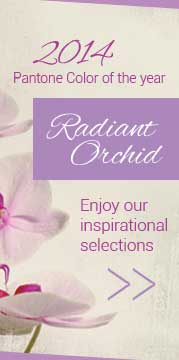 Radiant Orchid, featuring the 2014 Pantone color of the year