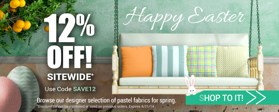 Happy Easter | Save 12% Sitewide