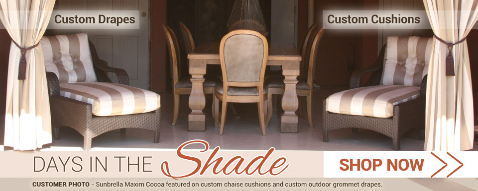 Relax this summer in the shade and comfort of your custom home decor
