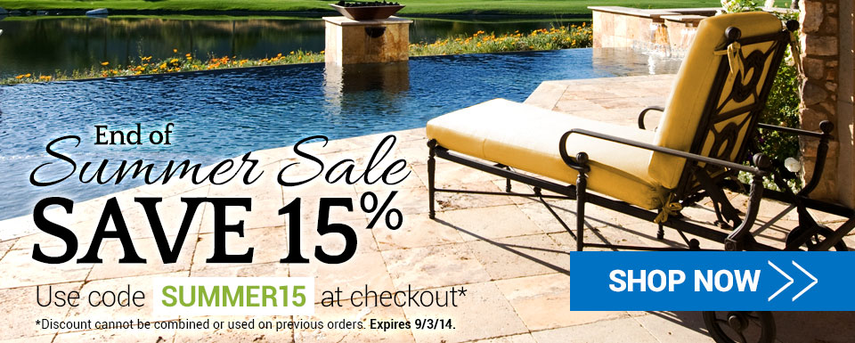 15% Off Sitewide End of Summer Sale - Use code SUMMER15