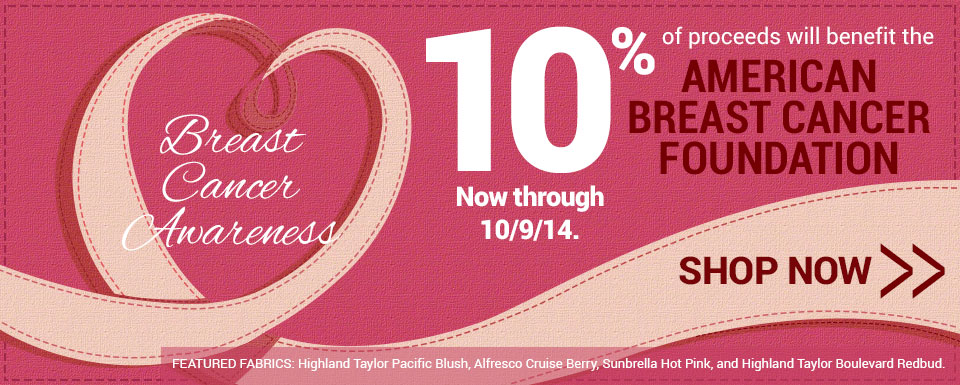 10% of proceeds will benefit the American Breast Cancer Foundation