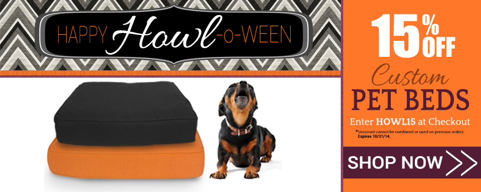 Save 15% on Custom Pet Beds with Code HOWL15