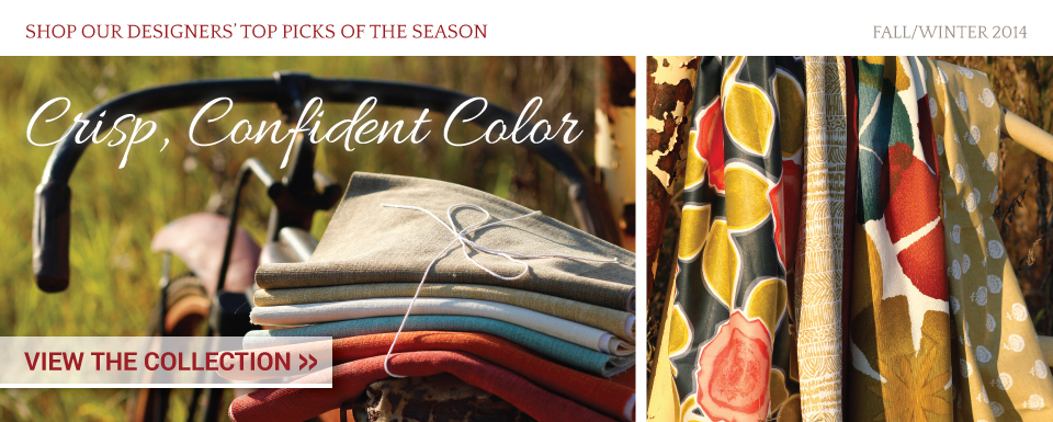 Crisp, Confident Color - New Fabric Collection
