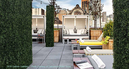 Gansevoort Hotel Group custom cushions