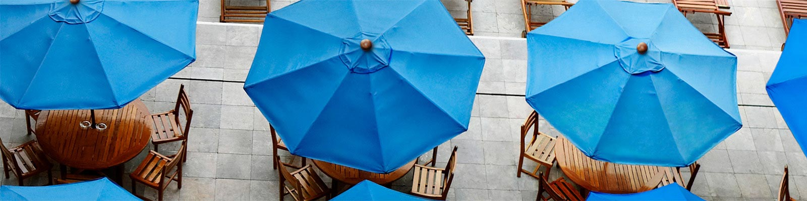 Custom Restaurant Market and Patio Umbrellas