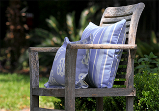 Al Fresco Sea Lavender Purple Throw Pillows