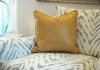 Gold Decorative Throw Pillows