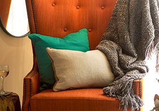 Teal and Orange Throw Pillows