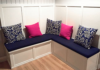Pink and Navy Throw Pillows