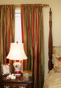 Silk Rod Pocket Drapes