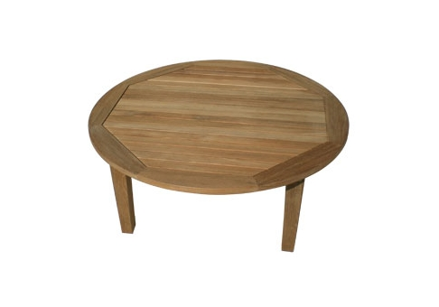 Miami Teak Round Coffee Table Commercial Site Furnishings