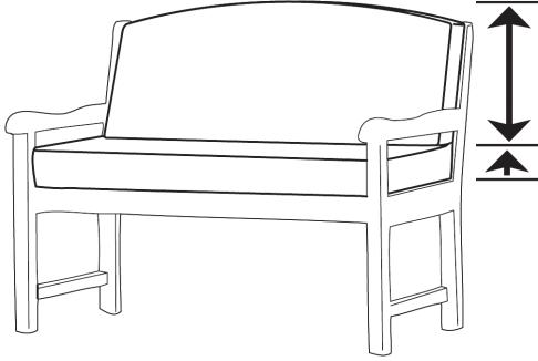 custom bench cushion back cushion measurement guide