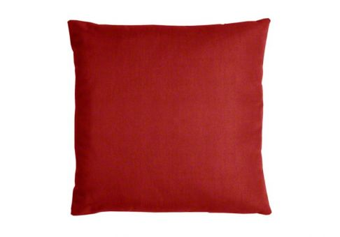 Throw Pillow Red : Sunbrella Throw Pillow in Jockey Red