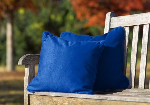 Pacific Blue Throw Pillows : Sunbrella Throw Pillow in Pacific Blue