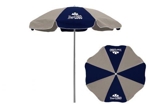 Beautiful 8 Panel Logo Patio Umbrella ...
