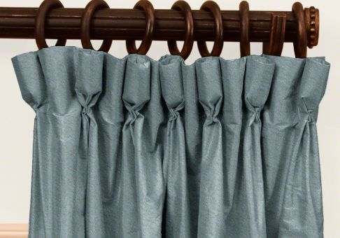 custom goblet pleat silk drapes - Silk Drapes