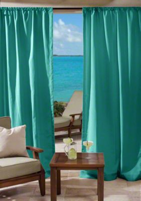 Custom rod pocket outdoor drapes cushion - Custom made outdoor curtains ...