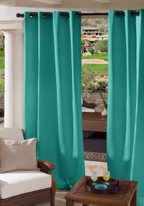 Custom grommet outdoor drapes - Custom made outdoor curtains ...