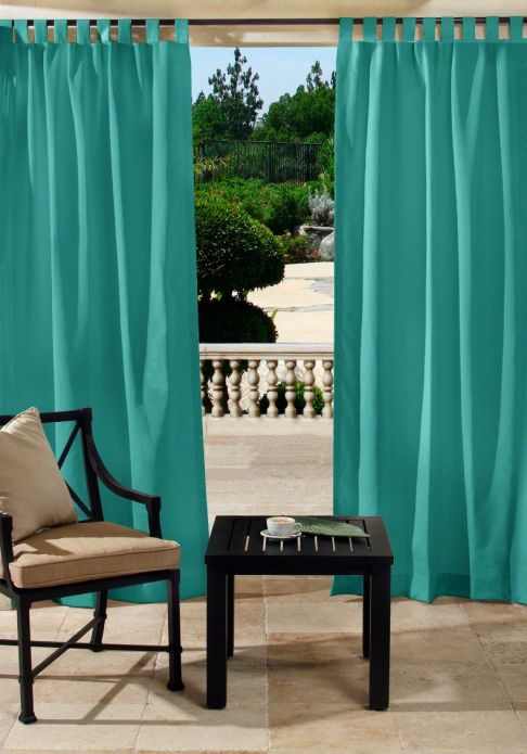 Custom tab top outdoor drapes - Custom made outdoor curtains ...
