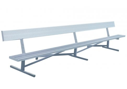 8 39 Aluminum Park Bench Commercial Site Furnishings