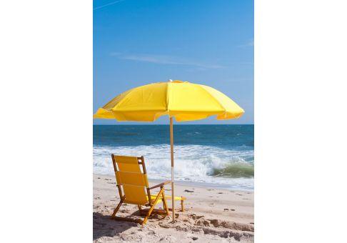 7 5 Ft Yellow Wood Beach Umbrella Umbrella Source