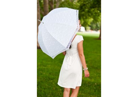 White Lace Bridesmaid Wedding Umbrella
