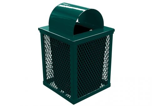 trash cans trash receptacles expanded metal