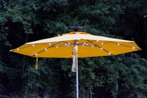 9 39 commercial illumishade solar market umbrella umbrella