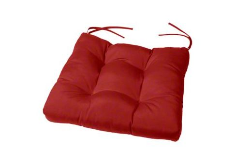 "tufted sunbrella chair cushion: 20"" x 18"""
