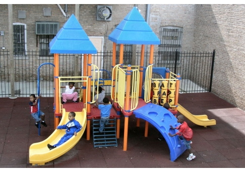 Preschool Playground Set Commercial Site Furnishings