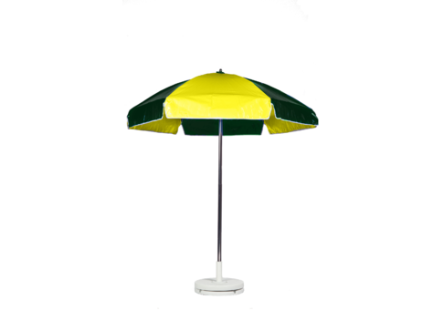 6 5 Forest Green And Yellow Vinyl Lifeguard Umbrella